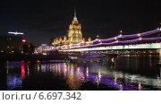 Купить «Ночная Москва», видеоролик № 6697342, снято 22 ноября 2014 г. (c) Наталья Волкова / Фотобанк Лори