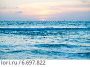 Восход солнца над Атлантическим океаном (2012 год). Стоковое фото, фотограф Юлия Гладышева / Фотобанк Лори