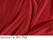 Красная ткань со складками. Стоковое фото, фотограф Андрей Семин / Фотобанк Лори