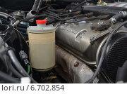 Старый автомобильный двигатель чистом состоянии (2013 год). Редакционное фото, фотограф Илья Пермяков / Фотобанк Лори