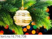 Купить «Christmas decoration on the fir tree», фото № 6716738, снято 23 сентября 2009 г. (c) Elnur / Фотобанк Лори