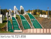 Комплекс прыжковых трамплинов в Нижнем Тагиле (2014 год). Редакционное фото, фотограф Елена Уткина / Фотобанк Лори