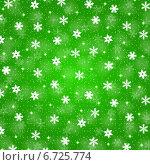 Купить «Зеленый рождественский фон со снежинками», иллюстрация № 6725774 (c) Мастепанов Павел / Фотобанк Лори