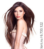 Купить «beautiful white pretty woman with long straight hair», фото № 6733122, снято 29 ноября 2013 г. (c) Валуа Виталий / Фотобанк Лори