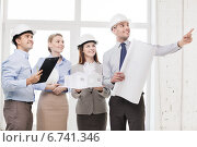 Купить «happy business team in office», фото № 6741346, снято 5 апреля 2014 г. (c) Syda Productions / Фотобанк Лори