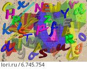 Новогодние граффити. Стоковая иллюстрация, иллюстратор Yevgen Kachurin / Фотобанк Лори
