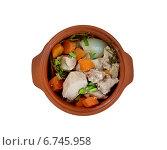 Рагу по-карельски —  традиционное праздничное блюдо карельской кухни. Стоковое фото, фотограф Александр Fanfo / Фотобанк Лори