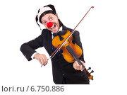 Купить «Funny clown businessman isolated on the white background», фото № 6750886, снято 30 октября 2013 г. (c) Elnur / Фотобанк Лори