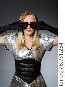 Купить «Tech woman in futuristic concept», фото № 6751254, снято 6 августа 2014 г. (c) Elnur / Фотобанк Лори