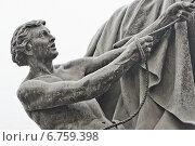 """Купить «""""Укротитель коня"""" скульптора Петра Клодта», эксклюзивное фото № 6759398, снято 30 ноября 2014 г. (c) Александр Алексеев / Фотобанк Лори"""