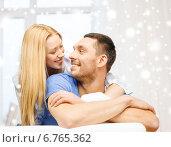 Купить «happy couple hugging at home», фото № 6765362, снято 9 февраля 2014 г. (c) Syda Productions / Фотобанк Лори