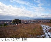 Купить «Осенний сельский пейзаж», фото № 6771190, снято 4 ноября 2012 г. (c) Евгений Ткачёв / Фотобанк Лори