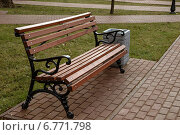 Лавочка в Московском сквере. Стоковое фото, фотограф Александр / Фотобанк Лори
