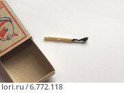 Купить «Последняя спичка сгорела, в спичечном коробке пусто», фото № 6772118, снято 1 декабря 2014 г. (c) Нина Карымова / Фотобанк Лори