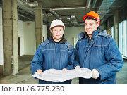 Купить «Construction builder workers», фото № 6775230, снято 27 ноября 2014 г. (c) Дмитрий Калиновский / Фотобанк Лори