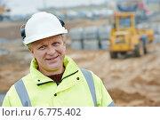 Купить «construction building site foreman», фото № 6775402, снято 10 ноября 2014 г. (c) Дмитрий Калиновский / Фотобанк Лори
