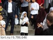Стамбульский митинг против военных действий в Сирии и Египте (2014 год). Редакционное фото, фотограф Никита Юдин / Фотобанк Лори