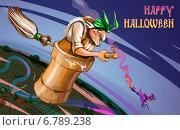 Купить «Happy Halloween. Хеллоуин по-русски», эксклюзивная иллюстрация № 6789238 (c) Александр Павлов / Фотобанк Лори