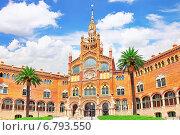 Купить «Больница Сан Пау, Барселона, Испания», фото № 6793550, снято 2 сентября 2014 г. (c) Vitas / Фотобанк Лори