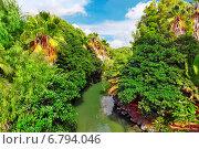 Купить «Красивый пейзаж из влажных тропических джунглей», фото № 6794046, снято 6 сентября 2014 г. (c) Vitas / Фотобанк Лори