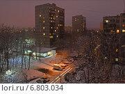 Москва ночью. Район Гольяново, эксклюзивное фото № 6803034, снято 11 декабря 2014 г. (c) lana1501 / Фотобанк Лори
