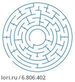 Игра лабиринт на белом фоне. Стоковая иллюстрация, иллюстратор Типляшина Евгения / Фотобанк Лори