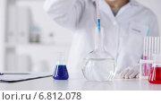 Купить «close up of scientist making research in lab», видеоролик № 6812078, снято 11 декабря 2014 г. (c) Syda Productions / Фотобанк Лори