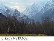 Утро в горах Кавказа в начале весны. Стоковое фото, фотограф александр жарников / Фотобанк Лори