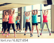 Купить «group of women working out in gym», фото № 6827654, снято 7 июня 2014 г. (c) Syda Productions / Фотобанк Лори