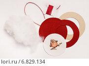 Заготовки из фетра для ёлочной игрушки. Стоковое фото, фотограф Dmitry29 / Фотобанк Лори
