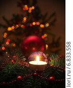 Рождественская свеча. Стоковое фото, фотограф Алексей Зипунников / Фотобанк Лори