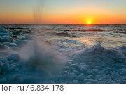 Купить «Всплеск. Японское море», фото № 6834178, снято 4 февраля 2012 г. (c) Владимир Серебрянский / Фотобанк Лори