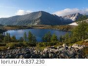 Купить «Кузнецкий Алатау, озеро Круглое», фото № 6837230, снято 4 сентября 2014 г. (c) Дмитрий Кривопалов / Фотобанк Лори