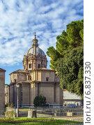 Церковь Santi Luca e Martina, Рим (2014 год). Стоковое фото, фотограф Boris Breytman / Фотобанк Лори