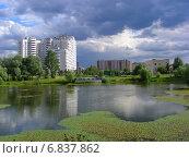 Купить «Красивый вид на Бабаевский пруд в заповеднике «Лосиный остров»», эксклюзивное фото № 6837862, снято 18 июля 2012 г. (c) lana1501 / Фотобанк Лори