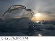Байкальский лед причудливой формы. Стоковое фото, фотограф Попов Роман / Фотобанк Лори