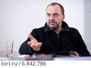 Купить «Berlin, Germany, the Polish artist Artur Zmijewski, curator of the 7th Berlin Biennale», фото № 6842786, снято 22 февраля 2012 г. (c) Caro Photoagency / Фотобанк Лори