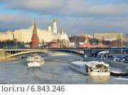 Купить «Московский Кремль зимой», фото № 6843246, снято 27 декабря 2014 г. (c) Овчинникова Ирина / Фотобанк Лори