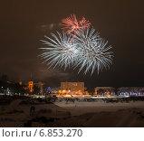 Купить «Новогодний фейерверк», фото № 6853270, снято 1 января 2015 г. (c) Игорь Симановский / Фотобанк Лори