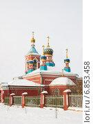 Православная церковь города Миасса. Стоковое фото, фотограф Александр Симонов / Фотобанк Лори