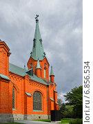Купить «Александровская церковь, Тампере, Финляндия», фото № 6856534, снято 28 августа 2014 г. (c) Валерия Попова / Фотобанк Лори