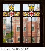 Купить «Витраж в интерьере больницы Hospital de Sant Pau в Барселоне. Каталония, Испания», фото № 6857010, снято 13 сентября 2014 г. (c) Дарья Филимонова / Фотобанк Лори