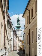 Купить «Михальская башня в Старом городе Братиславы. Словакия», фото № 6858706, снято 13 июня 2014 г. (c) Олег Тыщенко / Фотобанк Лори