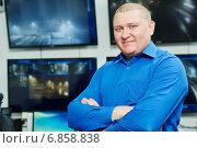 Купить «Security video surveillance chief», фото № 6858838, снято 14 декабря 2014 г. (c) Дмитрий Калиновский / Фотобанк Лори
