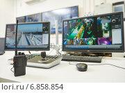 Купить «Security video surveillance equipment», фото № 6858854, снято 28 декабря 2014 г. (c) Дмитрий Калиновский / Фотобанк Лори