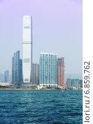 Вид на город и порт Гонконга (2014 год). Стоковое фото, фотограф Игорь Чайковский / Фотобанк Лори