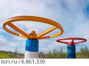 Купить «Газовые вентили», фото № 6861330, снято 9 августа 2014 г. (c) Икан Леонид / Фотобанк Лори