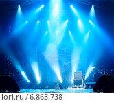 Купить «Сцена перед концертом», фото № 6863738, снято 4 июля 2009 г. (c) Максим Блинков / Фотобанк Лори