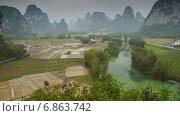 Купить «Живописный сельский пейзаж в Китае, таймлапс», видеоролик № 6863742, снято 9 июня 2014 г. (c) Кирилл Трифонов / Фотобанк Лори