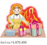 Кузнец. Стоковая иллюстрация, иллюстратор Павлова Елена / Фотобанк Лори